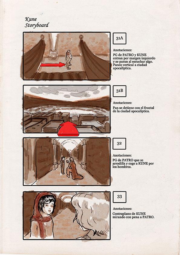 Kune-cortometraje-storyboard
